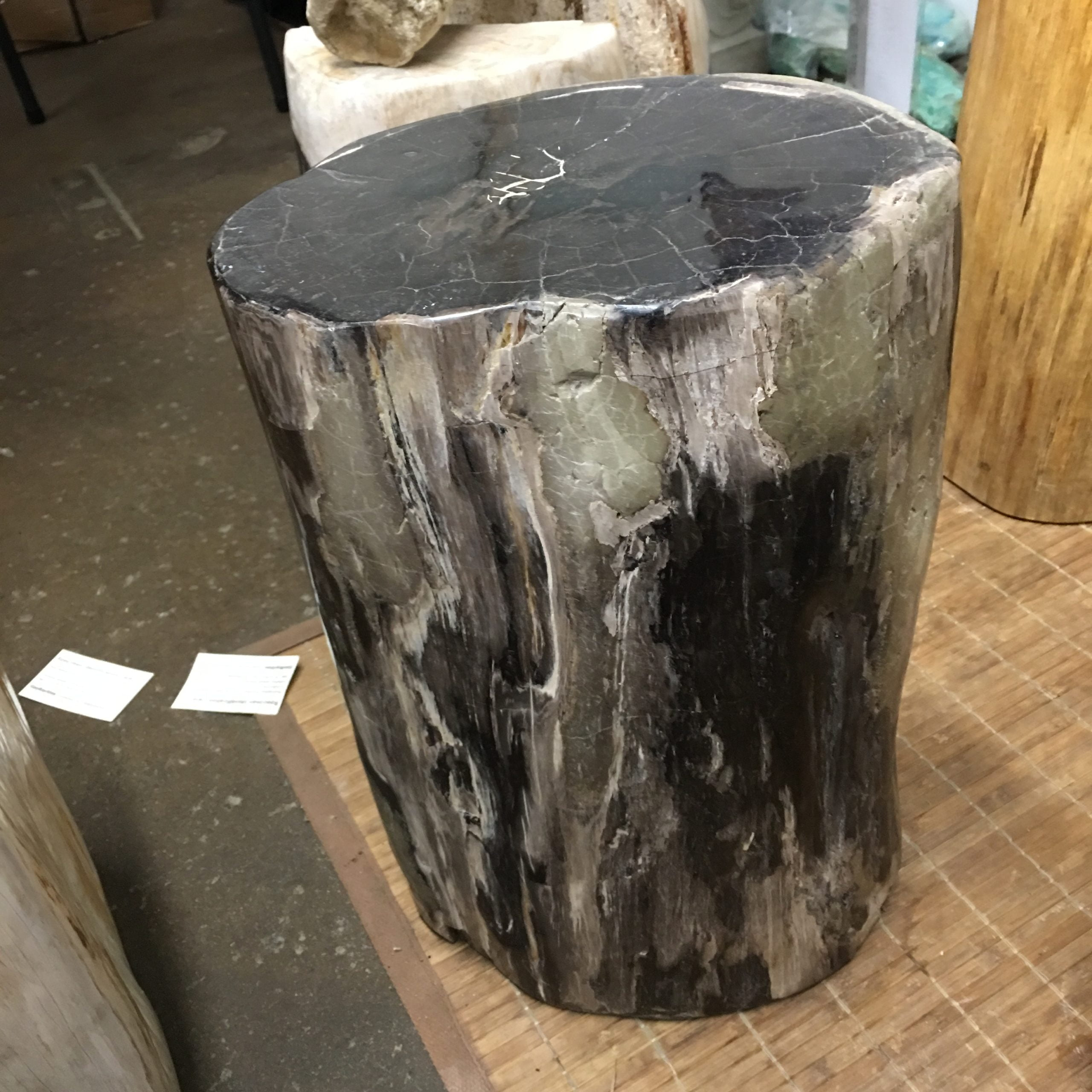 """#7 Petrified Wood Table Or Pedestal Or Stool 17.7"""" H  x 11.4"""" W 110 lbs"""