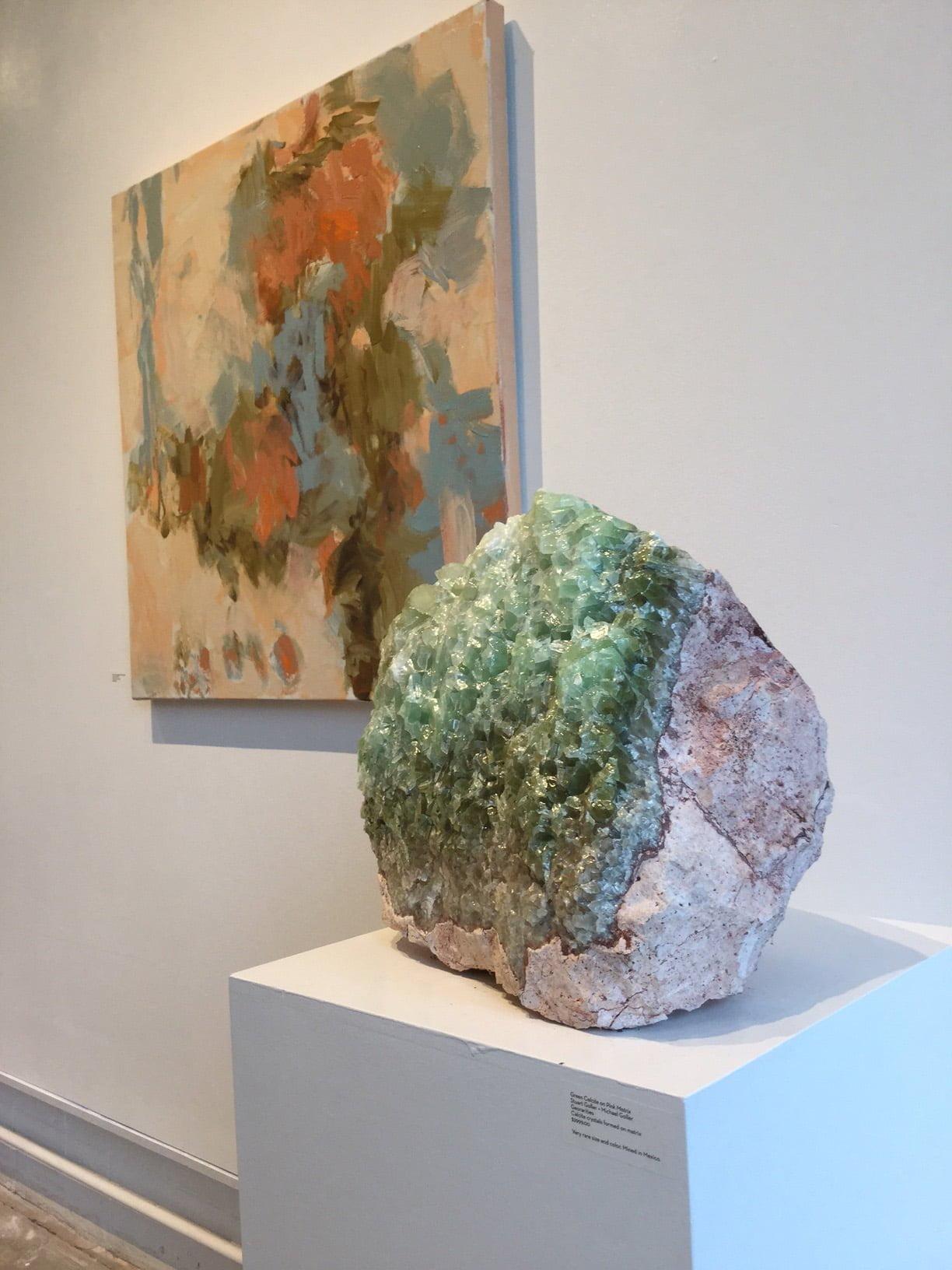 #RC3 Rare Huge Green Rainbow Calcite Boulder 118 lbs