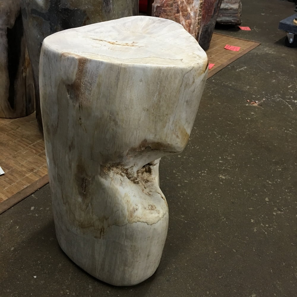 "#34 Petrified Wood Table Or Pedestal Or Stool 15.74"" H  x 11"" W 79 lbs"