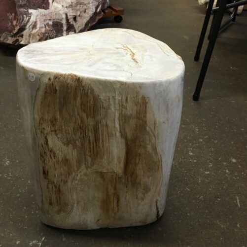 """#34 Petrified Wood Table Or Pedestal Or Stool 15.74"""" H  x 11"""" W 79 lbs"""