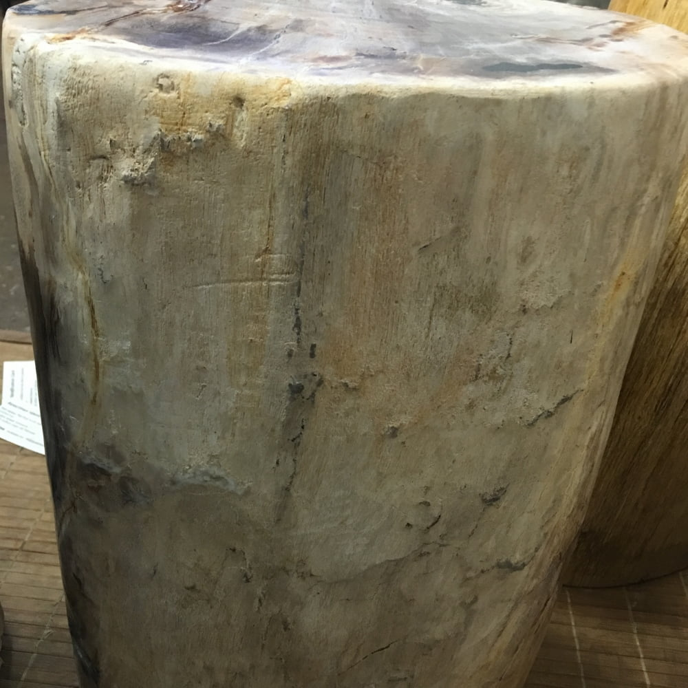 "#52 Petrified Wood Table Or Pedestal Or Stool 17.7″H x 11.5″L x 7""W 86 lbs"