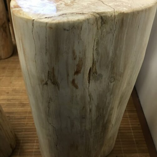 "#87 Petrified Wood Table Or Pedestal Or Stool 19.7"" H  x 9.44"" W 101 lbs"