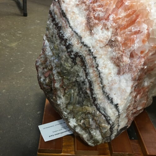 RC1 Huge Rare Banded Rainbow Calcite Boulder 135 lbs