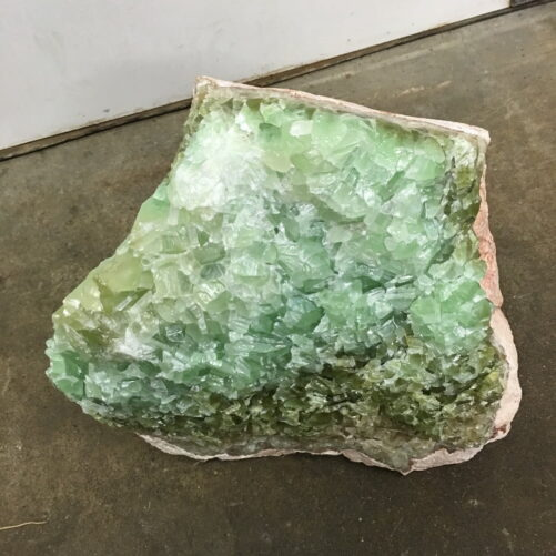 #RC3 Rare Huge Green Rainbow Calcite Boulder 118 lbs