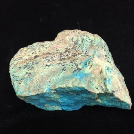 Veins of the Mineral Turquoise in a rock made of Chrysacolla