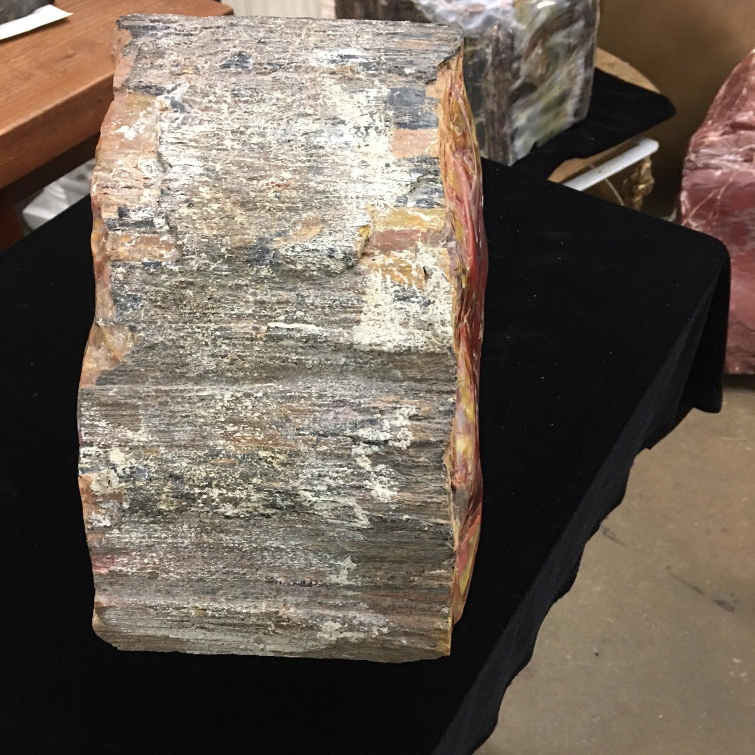 #A9 Museum Arizona Petrified Wood Sculpture Hand Polished On Both Sides – 54 Lbs