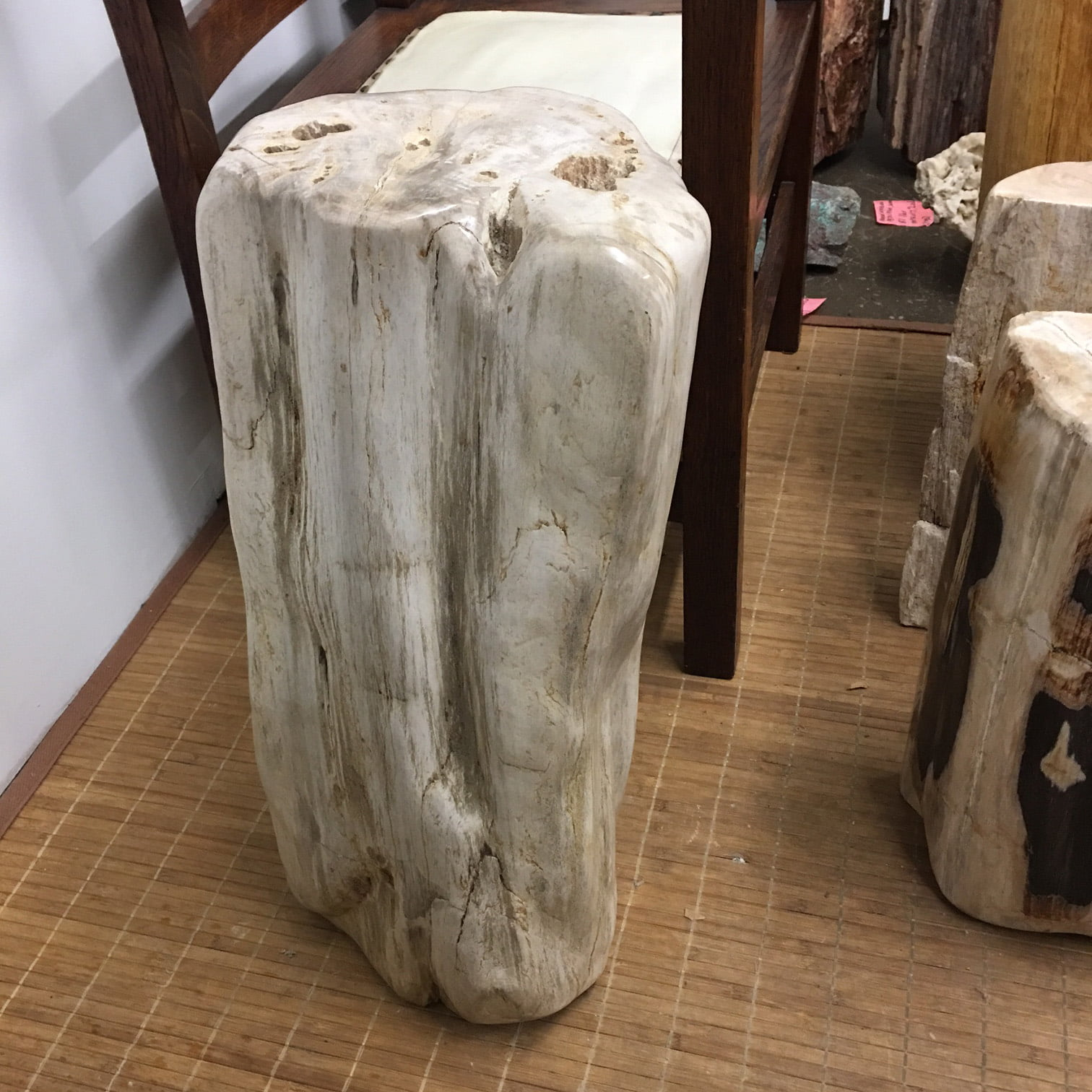 Tremendous Ipw1 Petrified Wood Table Or Pedestal Or Stool 22 75H X 9L X 7W 109 Lbs Gmtry Best Dining Table And Chair Ideas Images Gmtryco