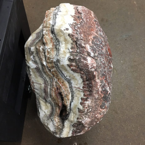 #RC5 Rainbow Calcite Veins Sandwiched Between Dolomite With Red Jasper Skin – Huge