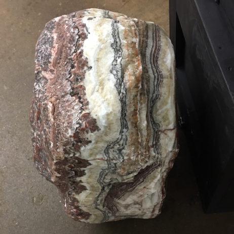 #RC5 Rainbow Calcite Veins Sandwiched Between Dolomite With Red Jasper Skin – Huge