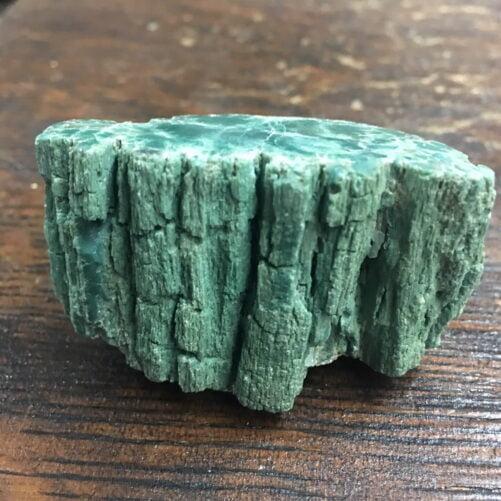 #GCPW3 Rare Mint Green Chromium Petrified Wood Limb Section. Very beautiful.