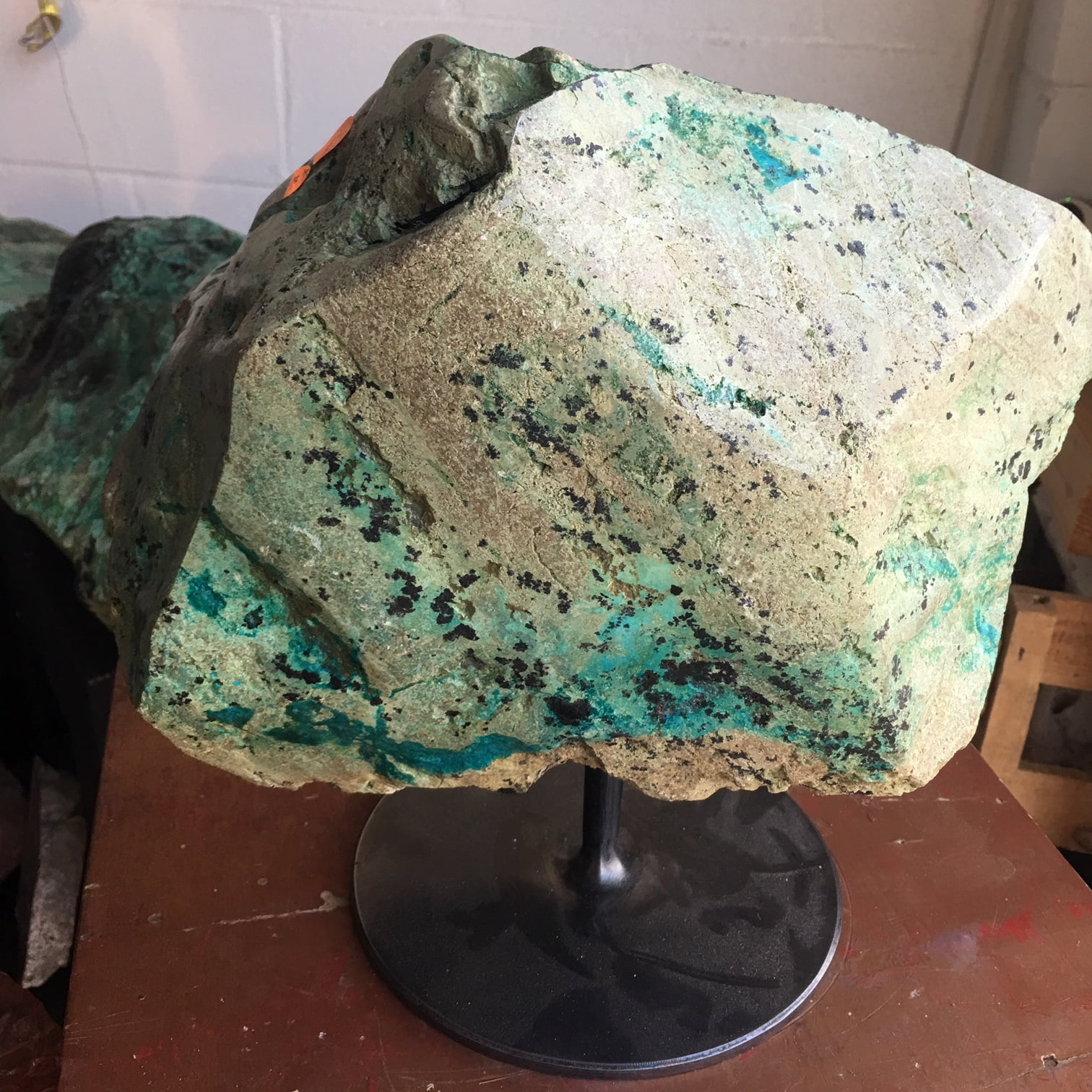 #TC1 Rare Deep  Blue Turquoise Mineral Veins In Chrysocolla Boulder 60 lbs
