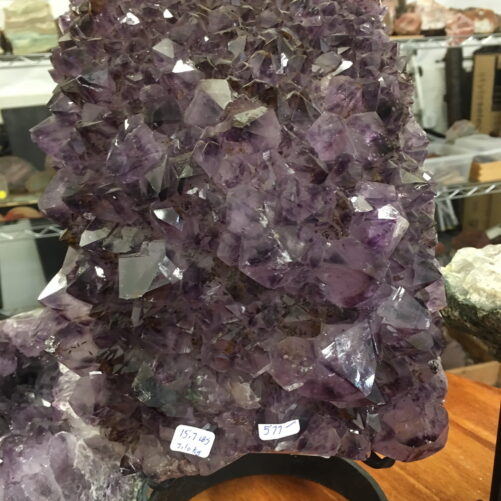 #AM35 Amethyst Quartz Cathedral Section on a Custom Stand