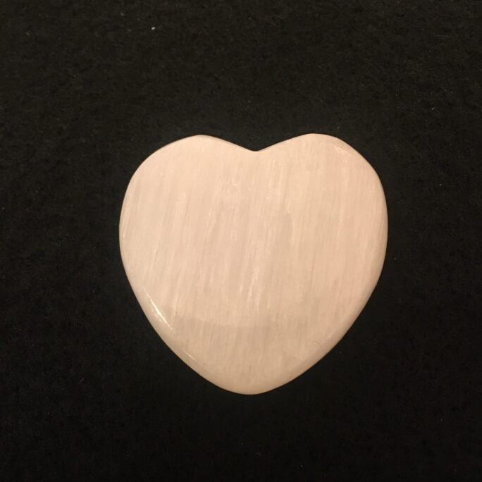 #SEL3  Beautiful Heart Shaped Selenite Charging Plate