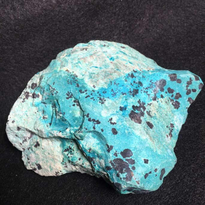 #TC14 Deep Blue Turquoise with Light Green Chrysocolla Stone  for Display, Lapidary