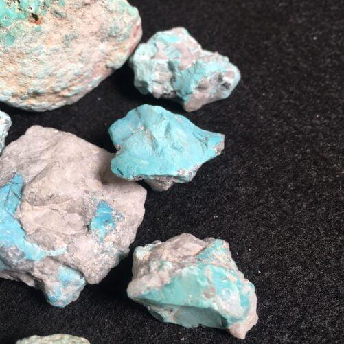 #TC5 Medium Blue Turquoise on Matrix  - 8 Pieces in this lot.