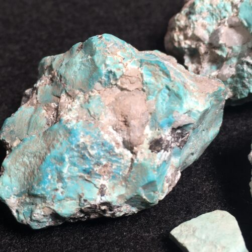 #TC6 Blue Green  Turquoise on Matrix - Beautiful! 4 Pieces This Lot