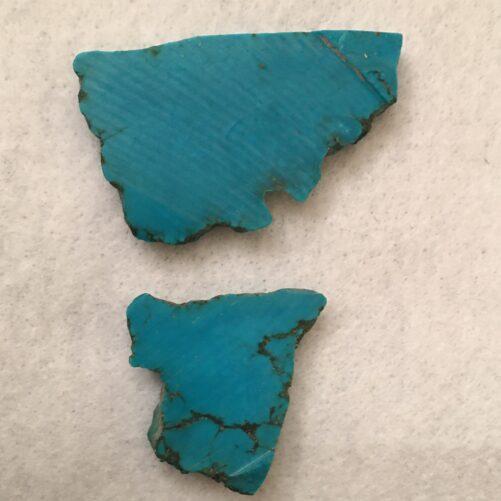 #TC7   6 Pieces Deep Blue  Turquoise