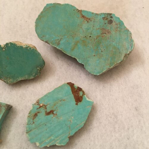 #TC8   4 Pieces Light Blue Green Turquoise