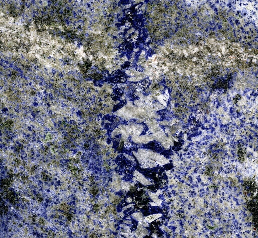 Azul Bahia Granite - sodalite metasyenite from the Precambrian of Brazil.