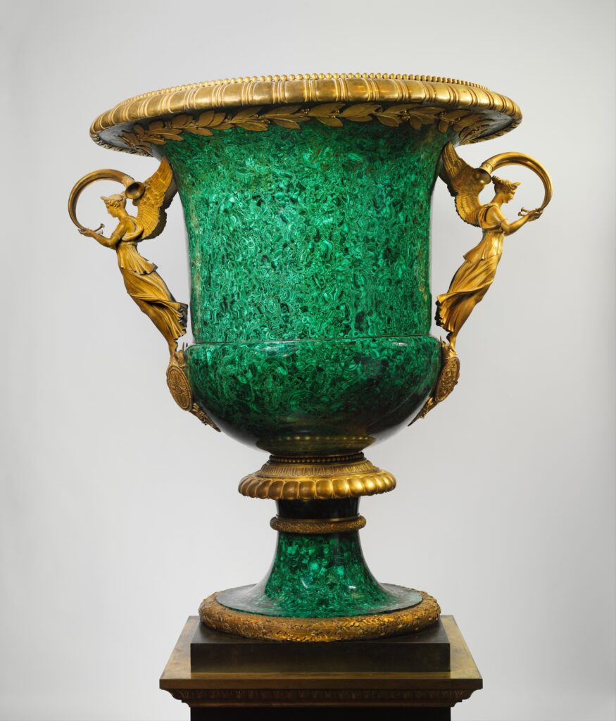 Malachite Monumental Vase