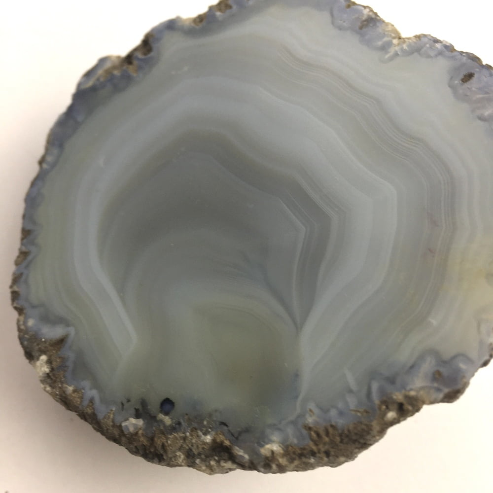 Agate Mineral Nodule Blue White Grey GEODE29-#GEOD29-2