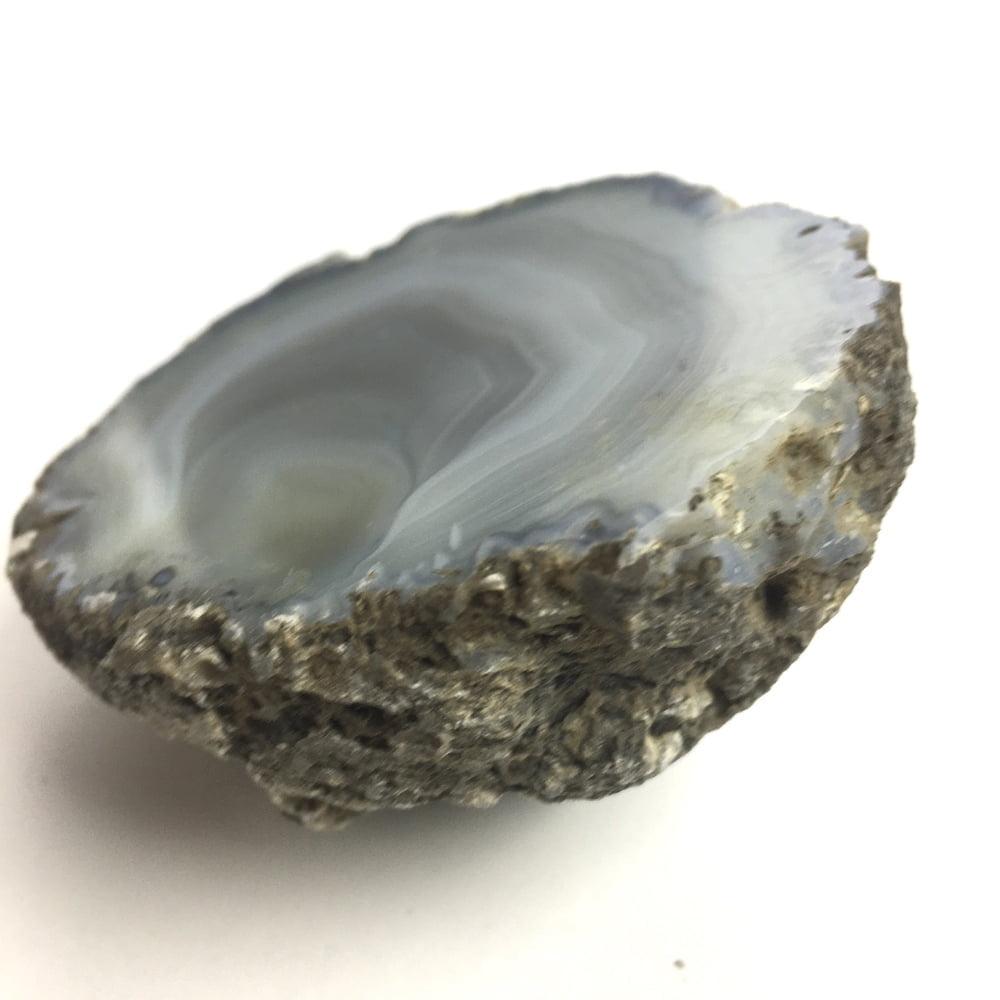 Agate Mineral Nodule Blue White Grey GEODE29-#GEOD29-3