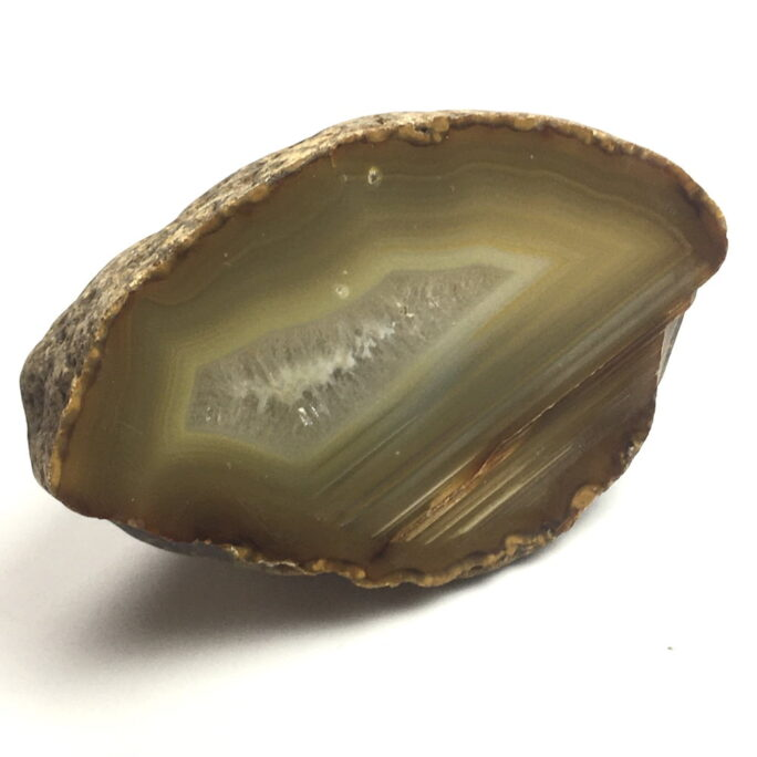 Agate Nodule showing Gravitational Settling AGBR1-#AGBR1-1
