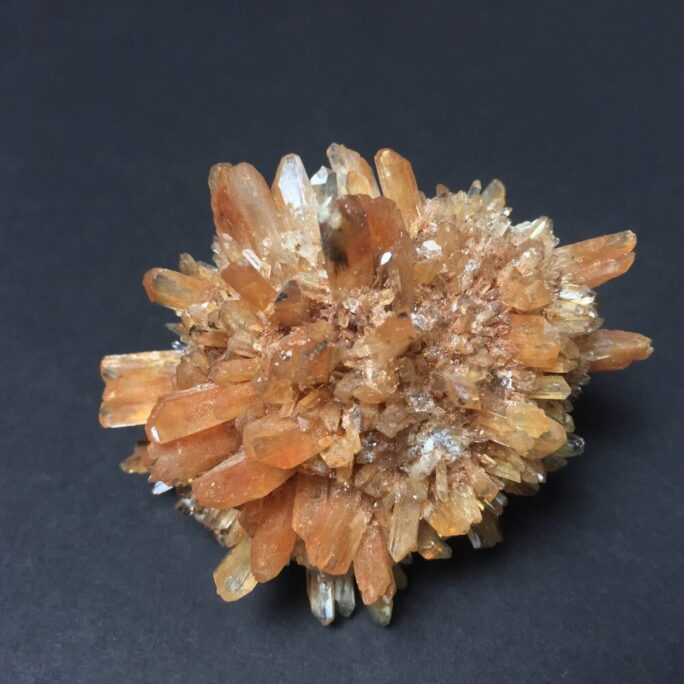 Cluster of Translucent Bright Orange Creedite Crystals CREED3-#CREED3-1