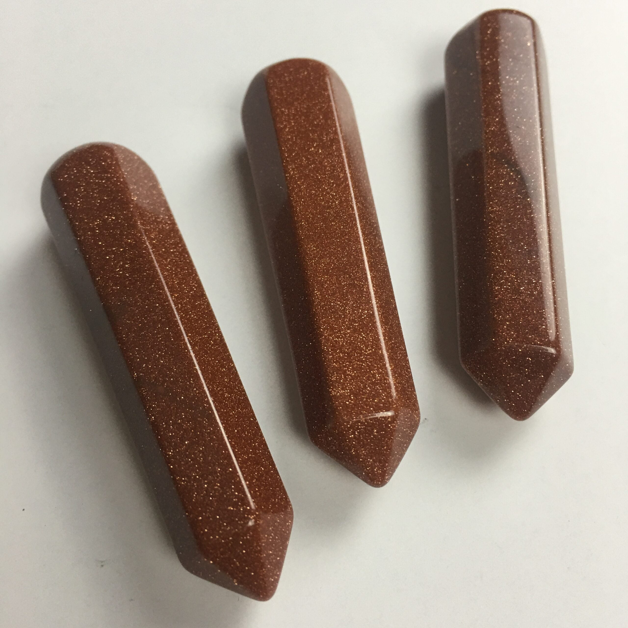 GSTN7 Red Goldstone Therapy Stone Wand