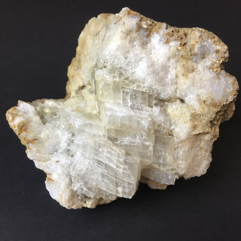 Indiana Geode Filled with Calcite Cubes on Quartz GEOD28-#GEODE28-1