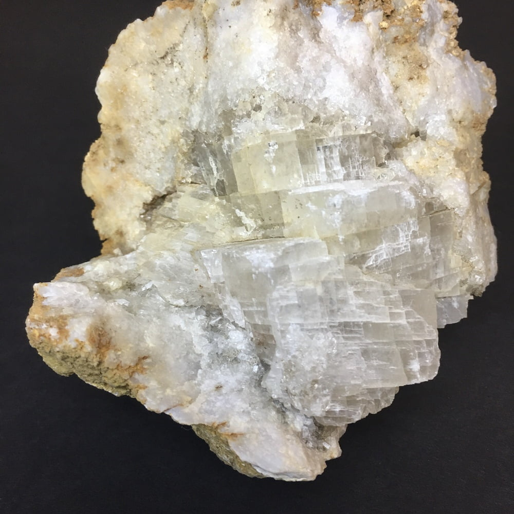 Indiana Geode Filled with Calcite Cubes on Quartz GEOD28-#GEODE28-3