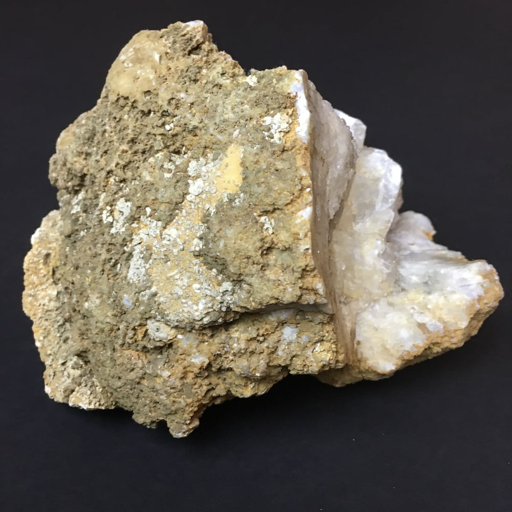 Indiana Geode Filled with Calcite Cubes on Quartz GEOD28-#GEODE28-5