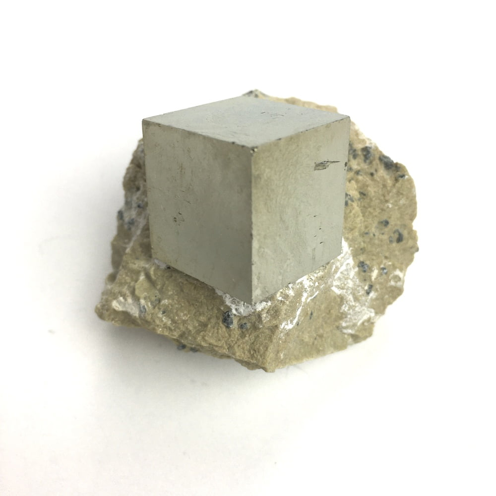 Pyrite Cube In Matrix from Navajun La Rioja Spain PYC13-#PYC13-3