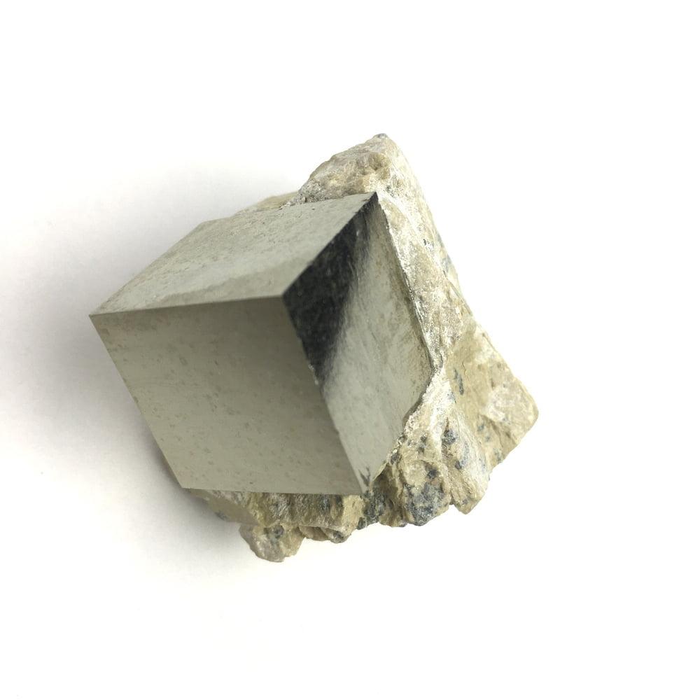 Pyrite Cube In Matrix from Navajun La Rioja Spain PYC19-#PYC19-3