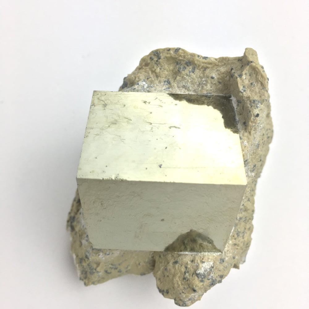 Pyrite Cube in Matrix From Navajun La Rioja Spain Larger Cube PYC1-#PYC1-2