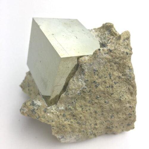Pyrite Cube in Matrix From Navajun La Rioja Spain Larger Cube PYC1-#PYC1-3