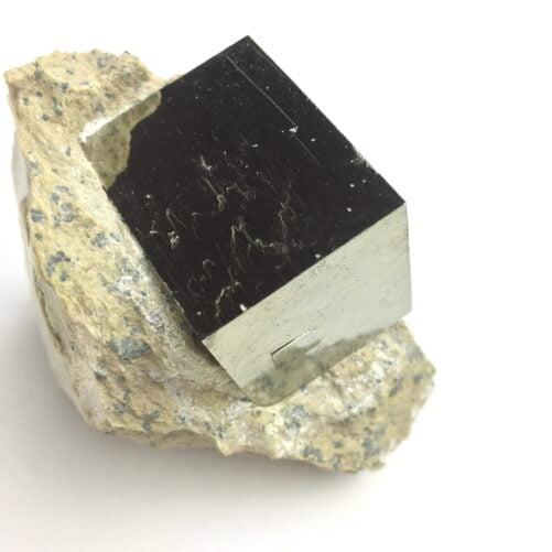 Pyrite Cube in Matrix From Navajun La Rioja Spain Larger Cube PYC1-#PYC1-4