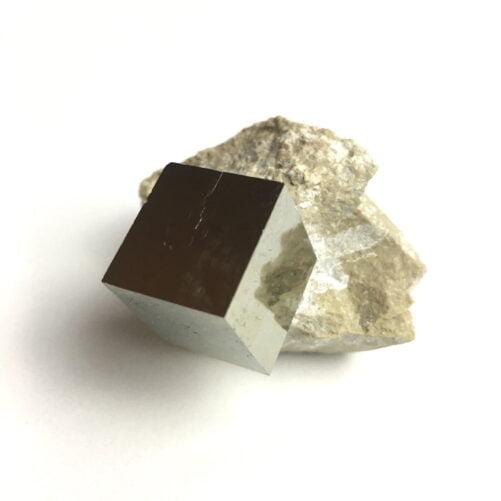 Pyrite Cube in Matrix from Navajun La Rioja Spain PYC12-#PYC12-1