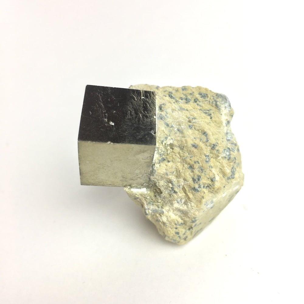 Pyrite Cube in Matrix from Navajun La Rioja Spain PYC20-#PYC20-2