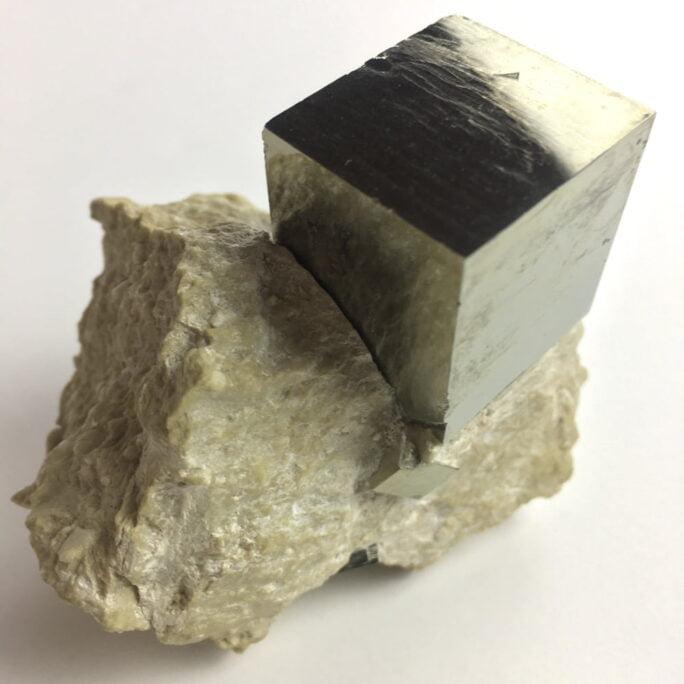Pyrite Cube in Matrix from Navajun La Rioja Spain PYC6-#PYC6-2