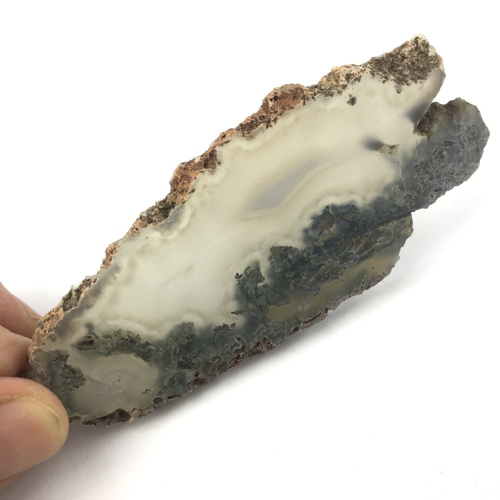 Translucent Agate and Moss Slice Agate AGGM4-#AGMM4-1