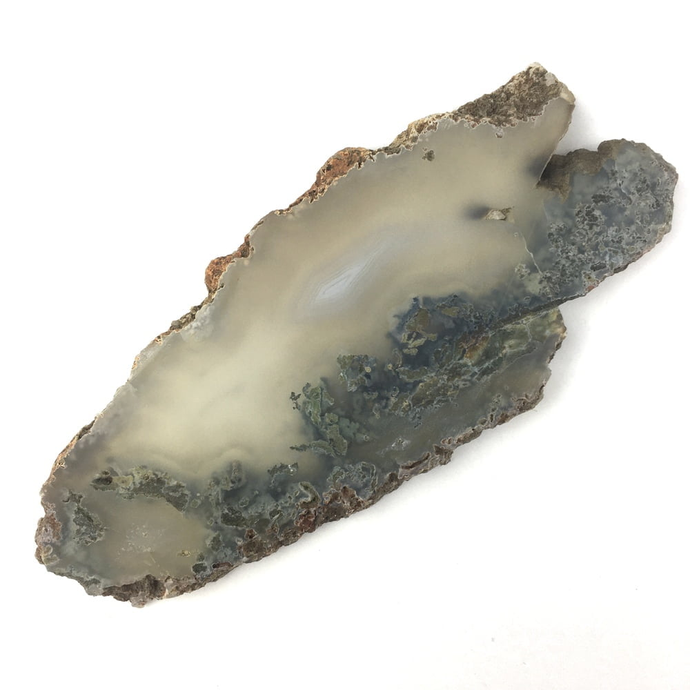 Translucent Agate and Moss Slice Agate AGGM4-#AGMM4-2