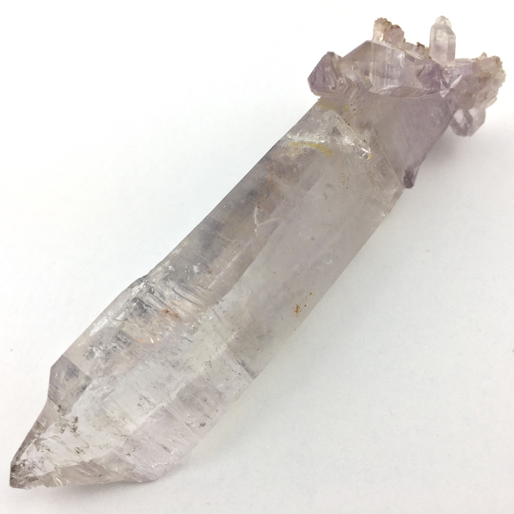 Amethyst Quartz Crystal Scepter With Secondary Crystals and 2 Trigger Crystals AM107-#AM107-1