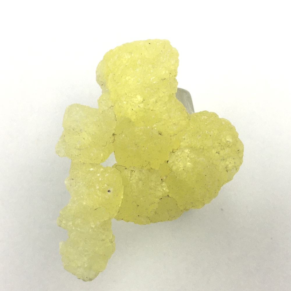 Brucite Beautiful Yellow Cluster of Translucent Crystals BR4-#BR4-3
