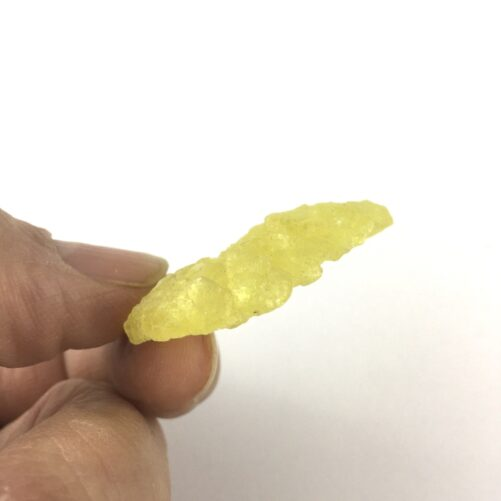 Brucite Flower of Vibrant Yellow Translucent Crystals-#BR1-5