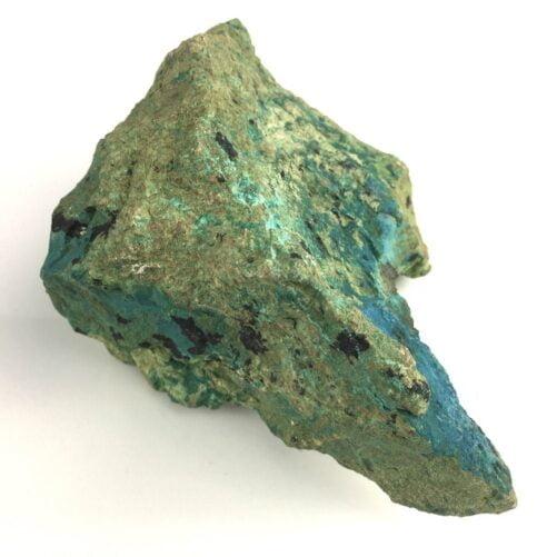 Deep Blue Turquoise in Chrysocolla Matrix with some Black Tenorite-#TC3-2