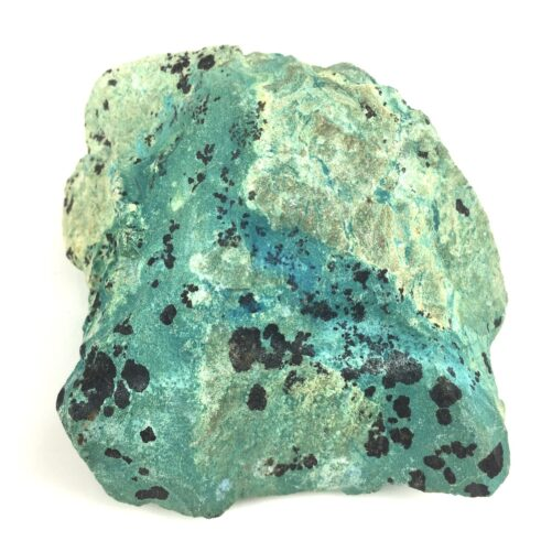 Deep Blue Turquoise with Light Green Chrysocolla Matrix and Black Tenorite TC14-#TC14-1