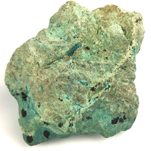 Deep Blue Turquoise with Light Green Chrysocolla Matrix and Black Tenorite TC14-#TC14-4