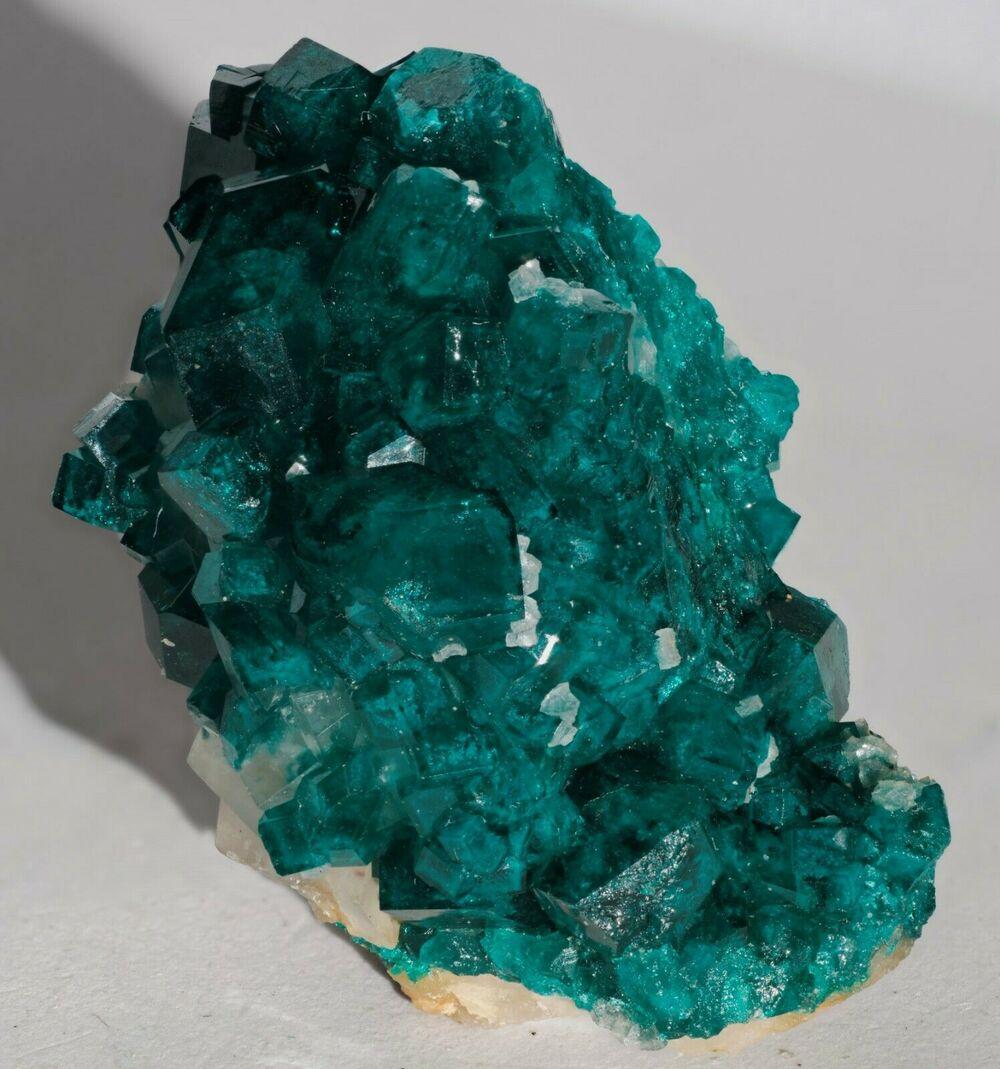 Dioptase with Calcite Tsumeb Mine Otjikoto Region Namibia-#DIO2-1