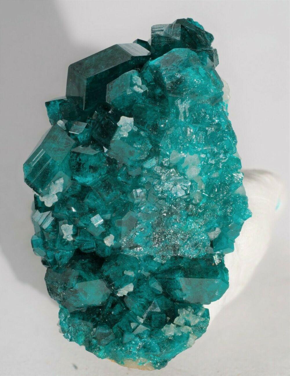 Dioptase with Calcite Tsumeb Mine Otjikoto Region Namibia-#DIO2-3